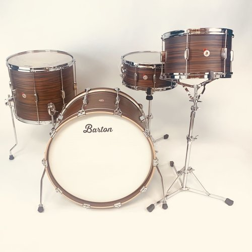 Barton Drums Barton Drums Essential Beech 3pc Shell Pack-Rosewood