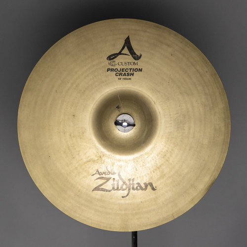 "Zildjian Used Zildjian 18"" A Custom Projection Crash Cymbal"