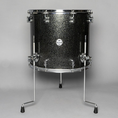 """PDP Used PDP Concept Maple 16X18"""" Floor Tom Black Sparkle"""