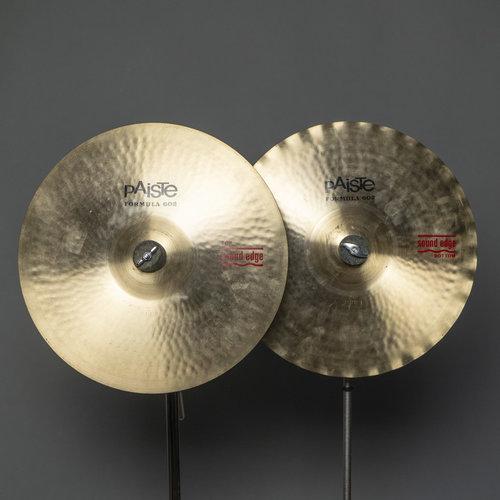 "Paiste Used Paiste 14"" Formula 602 Sound Edge Hi Hats (Pair)"
