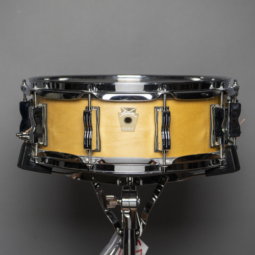 """Ludwig Used Ludwig Classic Maple 5X14"""" Snare Drum Natural Maple Finish"""