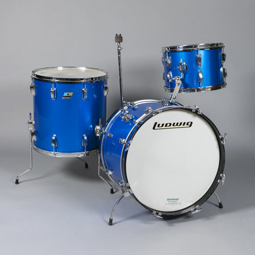 Ludwig Vintage Ludwig Mid 70's Super Classic 3pc Shell Pack in Blue Silk