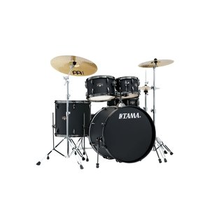"""Tama Tama Imperialstar 5pc Drum Kit with 22"""" Bass Drum Blacked Out Black"""
