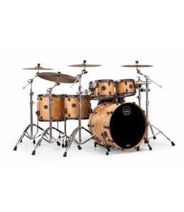 Mapex Mapex Saturn V MH Exotic Studioease 5 Piece Shell Pack w/o Snare Natural Maple Burl