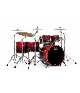 Mapex Saturn V Mh Exctic Studioease 5 Piece Shell Pack  Wo Snare Cherry Mist Maple Burl