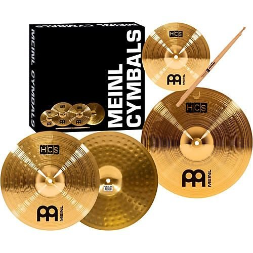 Meinl Meinl HCS Three For Free Cymbal Set; 13 Hi Hat, 14 Crash, Inc. Free 10 Splash, Free 5A Sticks
