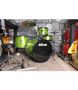 DDrum ddrum D2 4pc Rock Drum Set Lime Sparkle