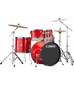 Yamaha Yamaha Rydeen 5pc Hot Red Drum Set w/Hardware and Cymbals