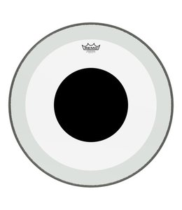 Remo Remo Clear Powerstroke 3 Clear Bass Drumhead w/ No Stripe and Top Black Dot