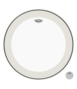 Remo Remo Clear Powerstroke 4, Clear Bass Drumhead w/ Impact Patch