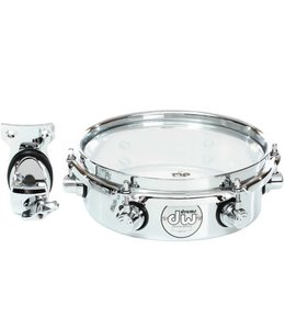 DW DW Design Series 10 in Chrome Over Steel Piccolo Tom w/ Bracket
