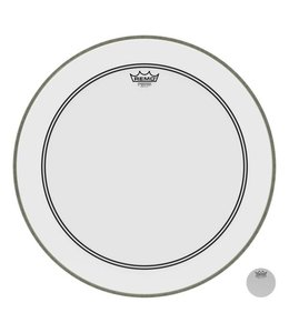 Remo Remo Smooth White Powerstroke 3 Bass Drumhead w/ 2-1/2'' Impact Patch