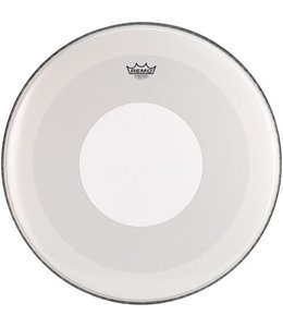 Remo Remo Smooth White Powerstroke 3 Bass Drumhead w/ White Dot Top Side