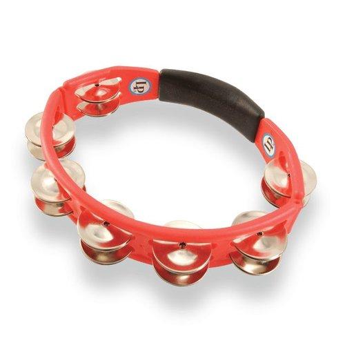 LP LP Cyclops Hand Held Red Steel Tambourine