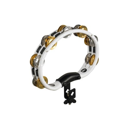Meinl Meinl ABS Mountable Tambourine Recording Combo Dual Alloy Jingles White