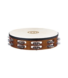 Meinl Meinl Headed Wood Tambourine 2 Rows Steel Jingles African Brown