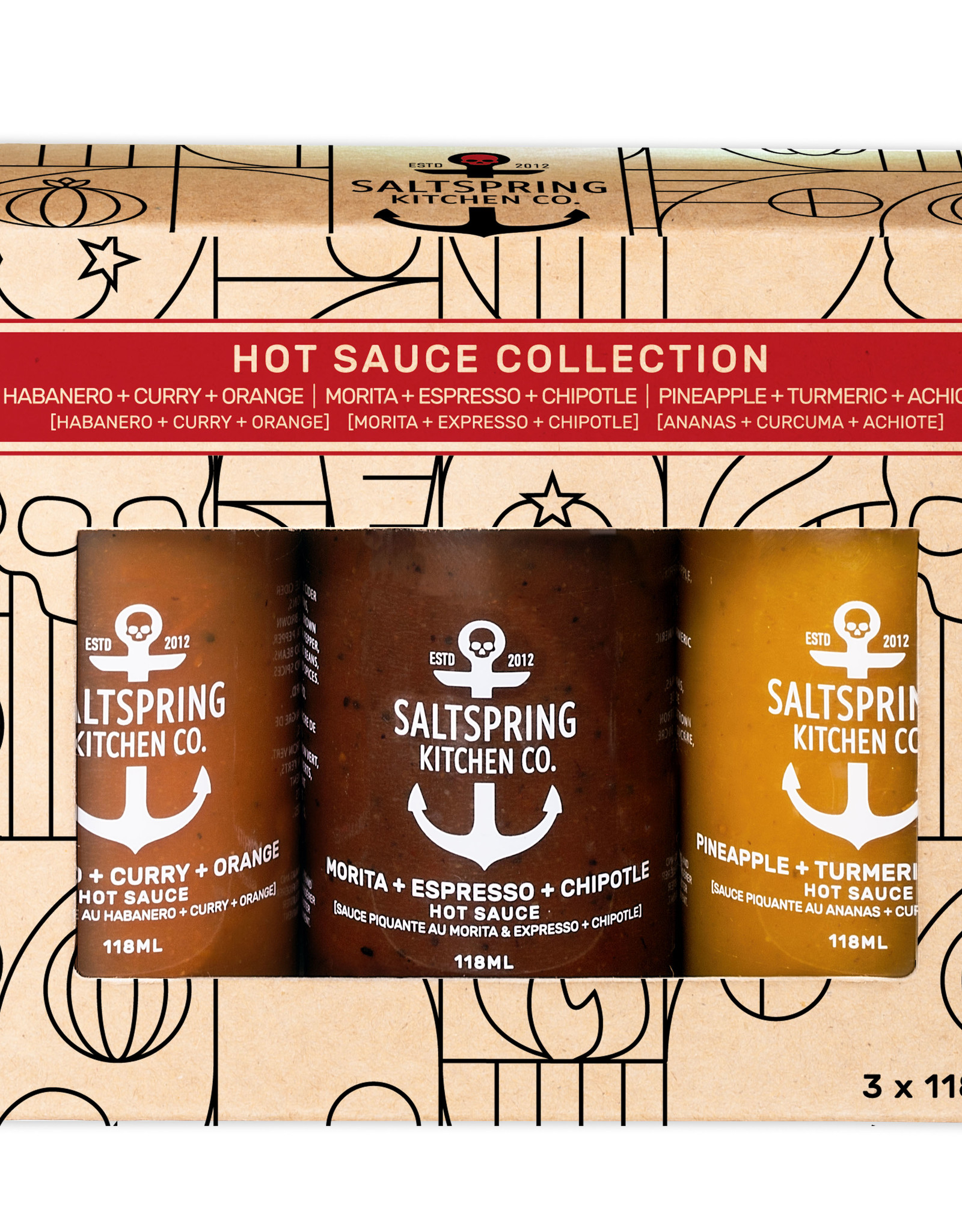 SaltSpring Kitchen Co. - Hot Sauce Collection Gift Box