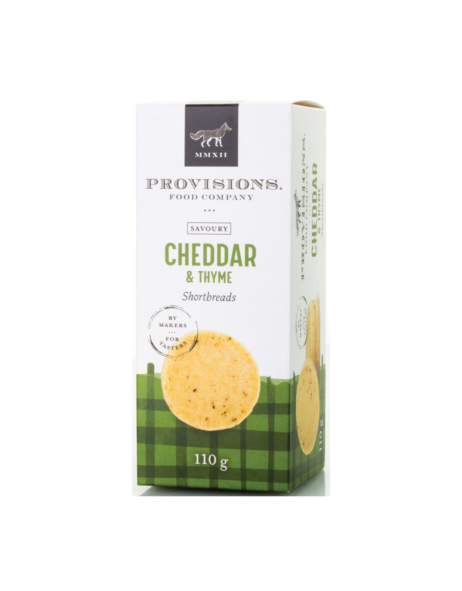 Provisions Food Company - Sablés au cheddar & thym