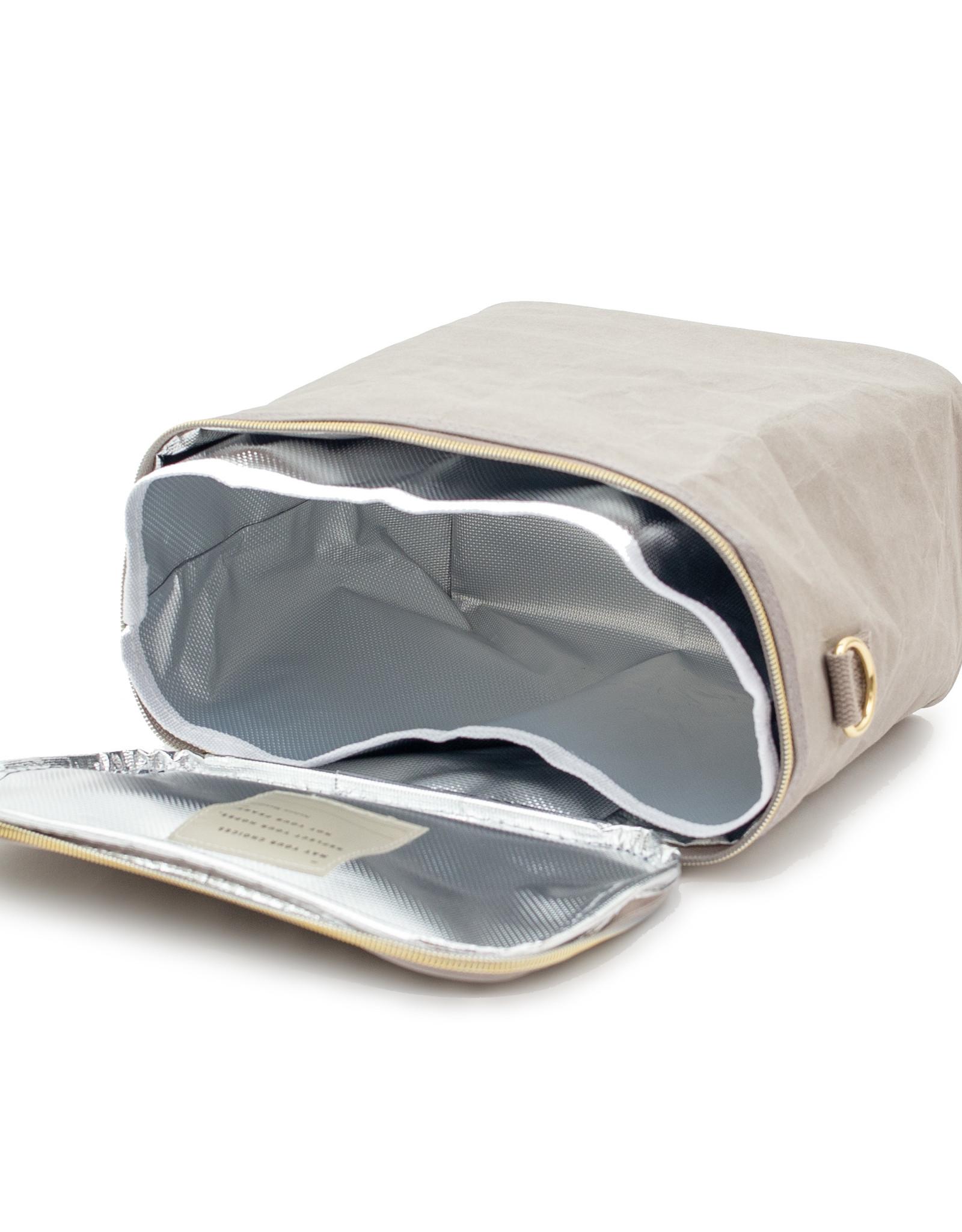 Stone Grey Paper Lunch Poche