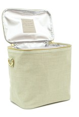 Linen Sage Green Lunch Poche