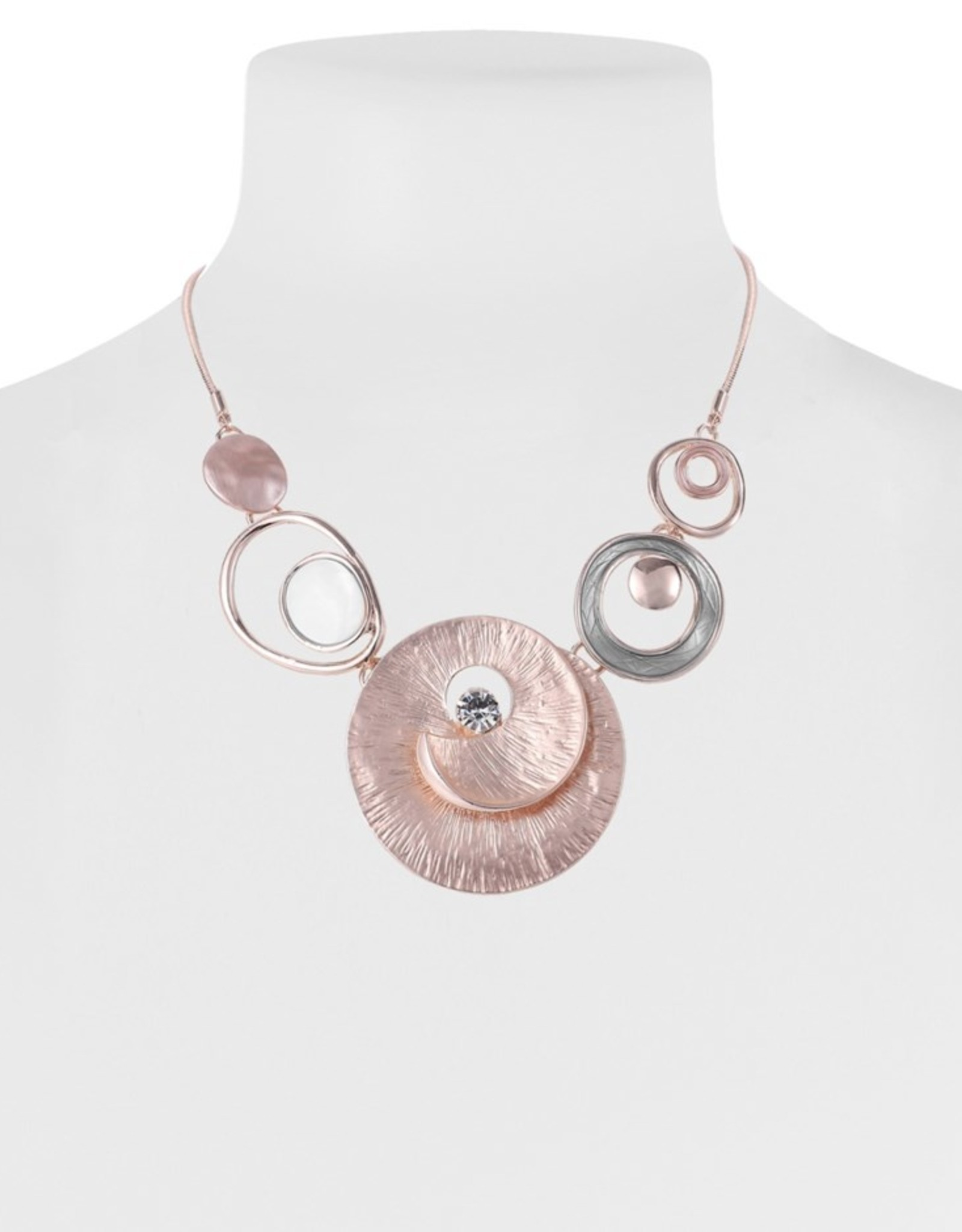 Pink & Rose Gold Shell Necklace