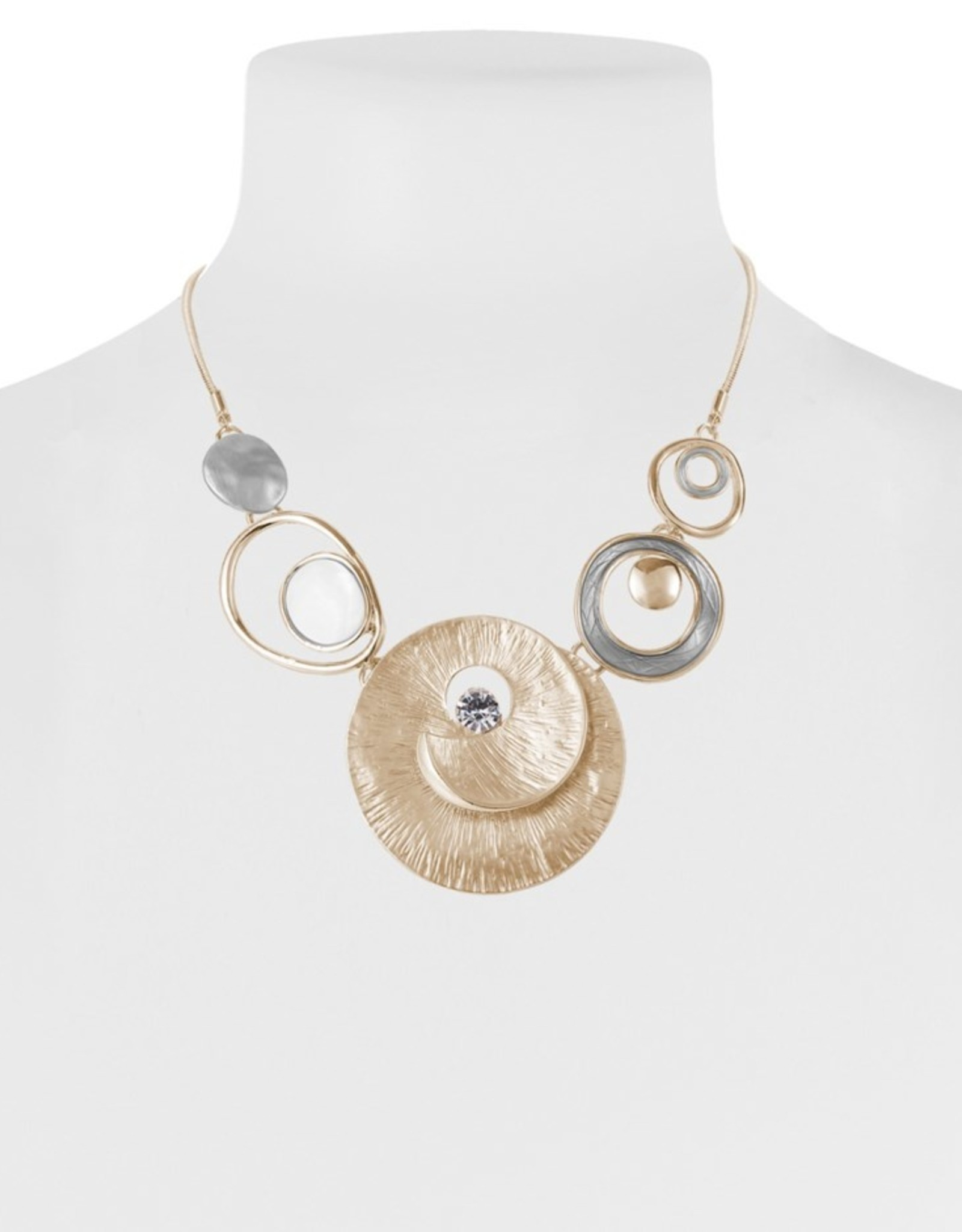 Collier coquillage or et argent