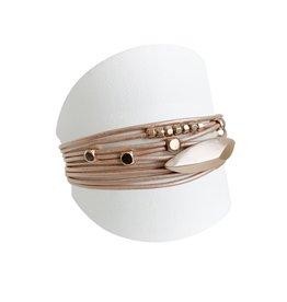 Nude & Rose Gold Multi Bracelet