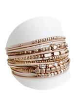 Bracelet large et multirang nu et or rose