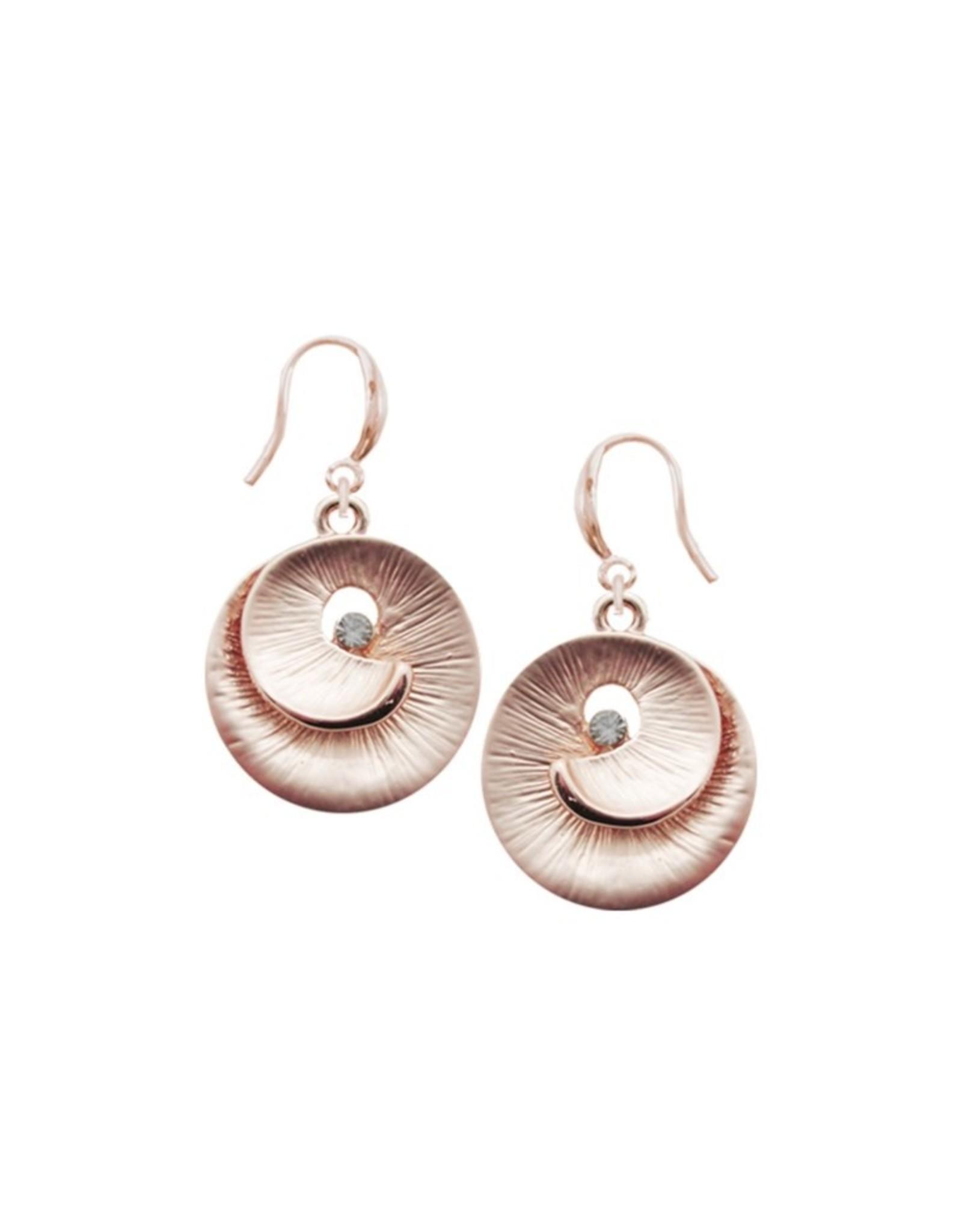 Rose Gold Swirl Earrings