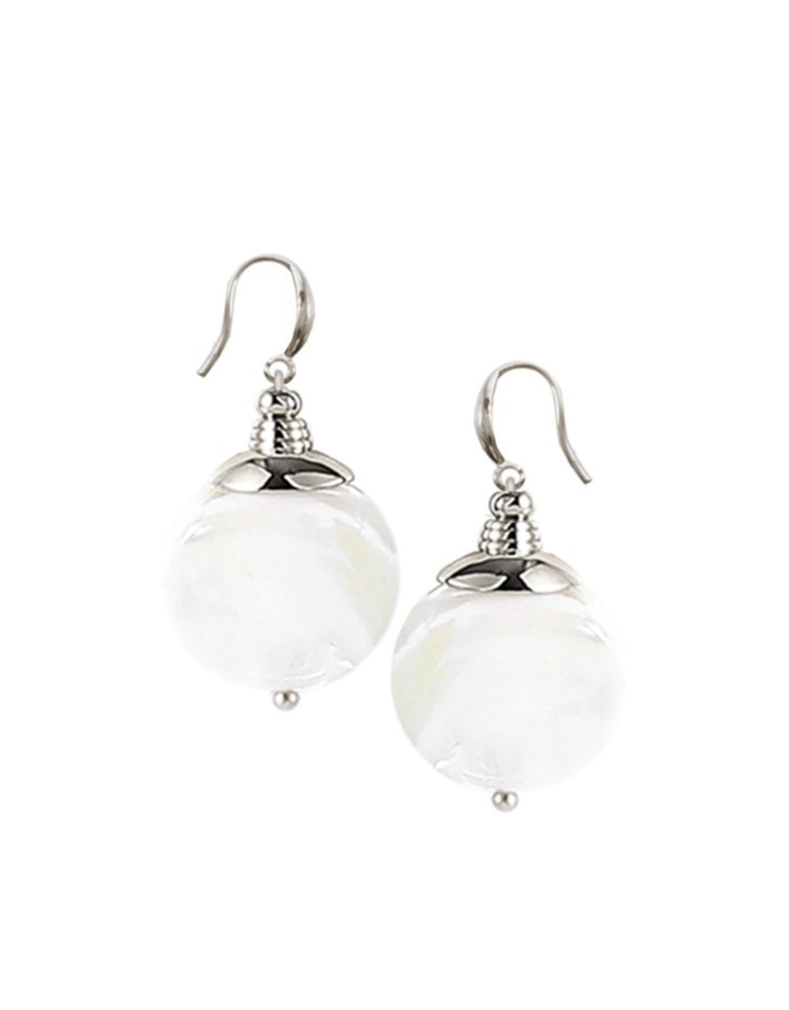 Boucles d'oreilles coquillages blanc et argent