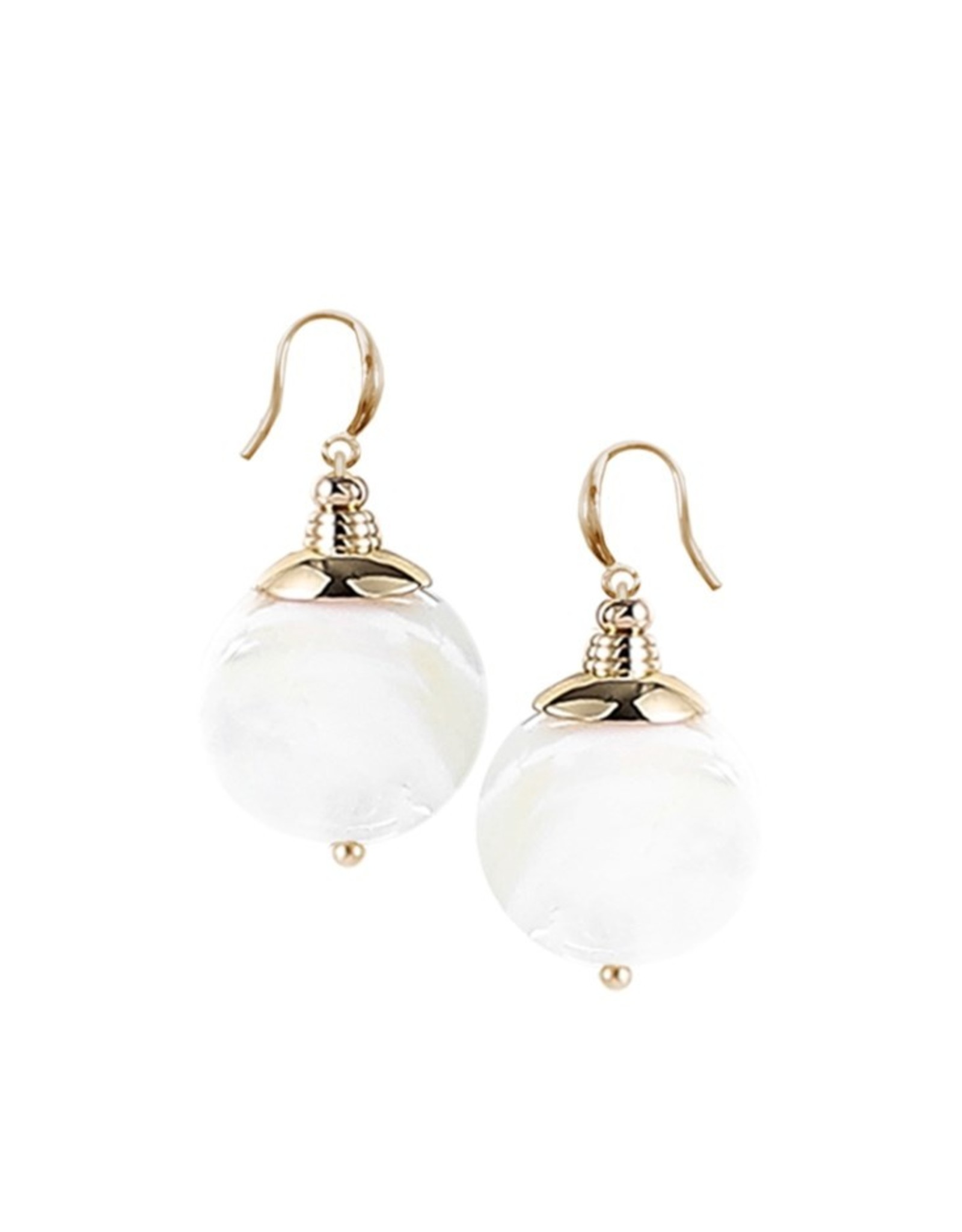 White & Gold Shells Earrings