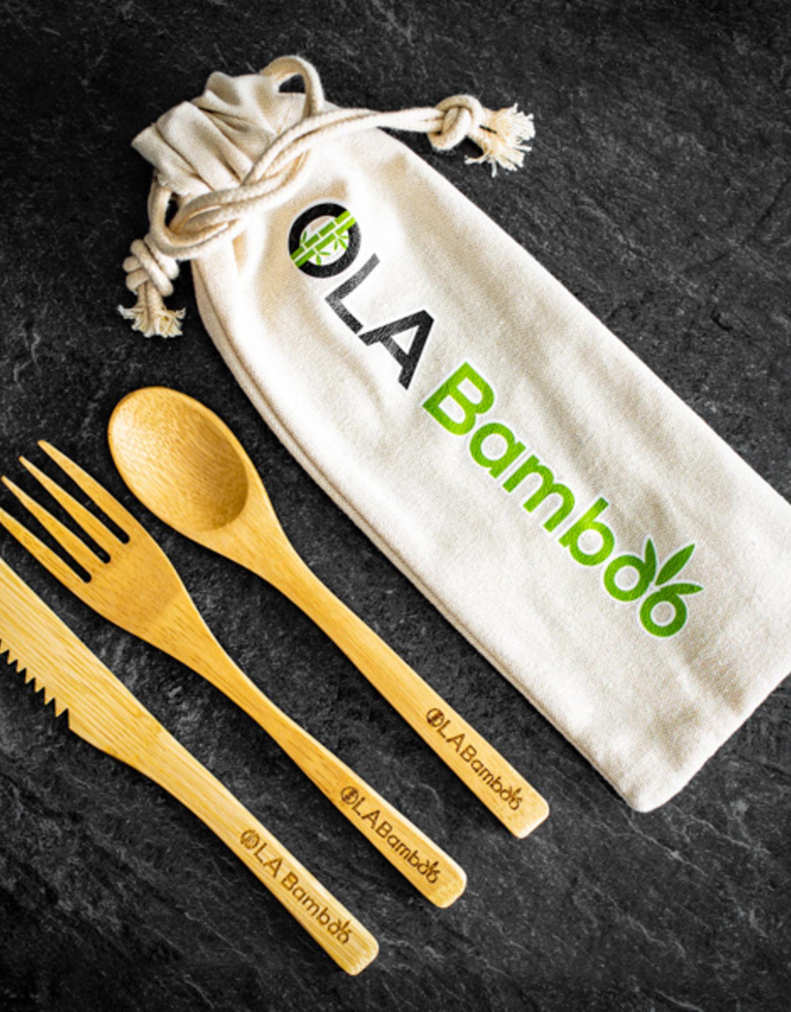 Ustensiles en bamboo réutilisables