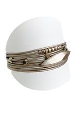 Taupe & Gold Multi Bracelt
