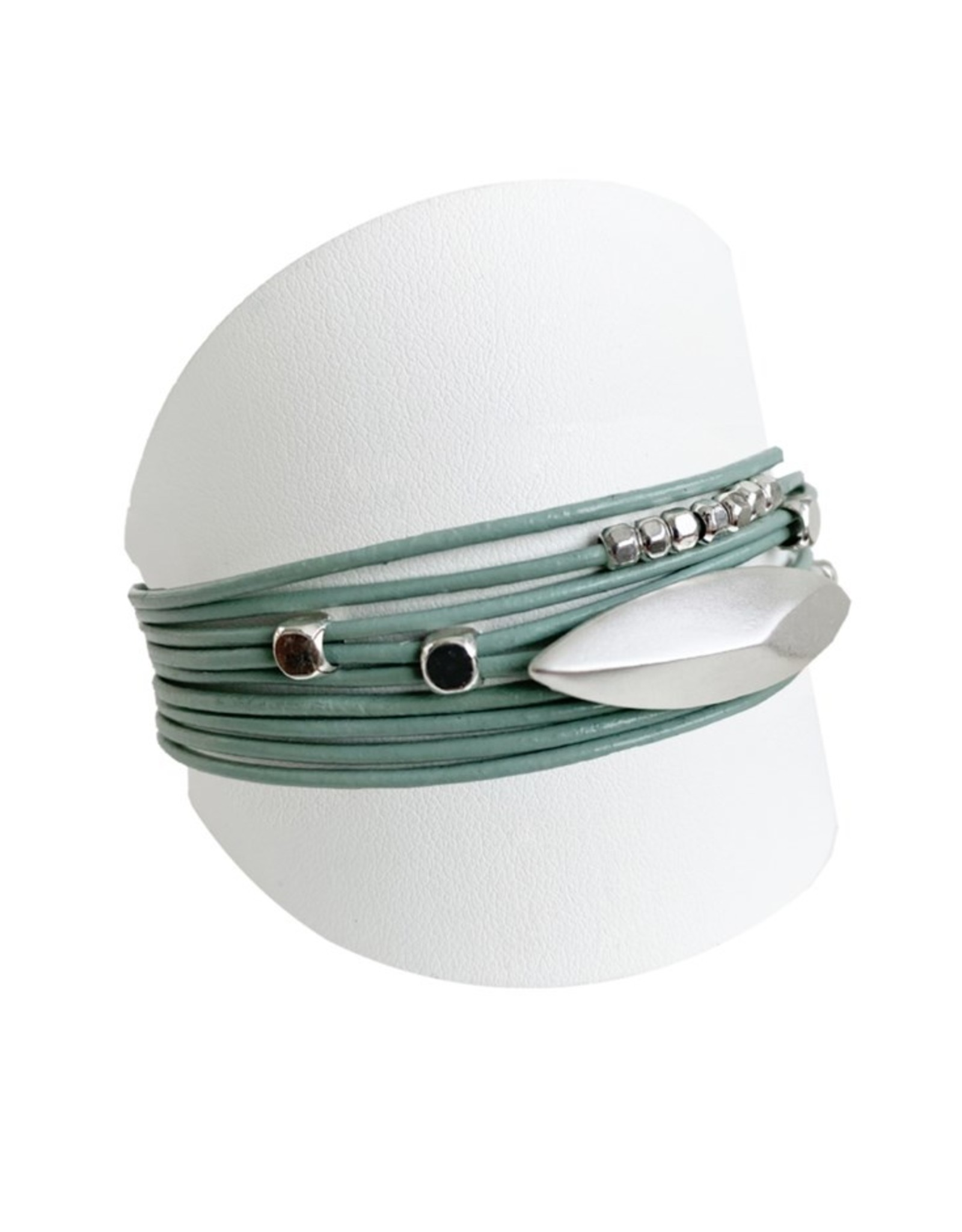 Turquoise & Silver Mutli Bracelet