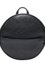 Black Jessa Round Convertible Backpack
