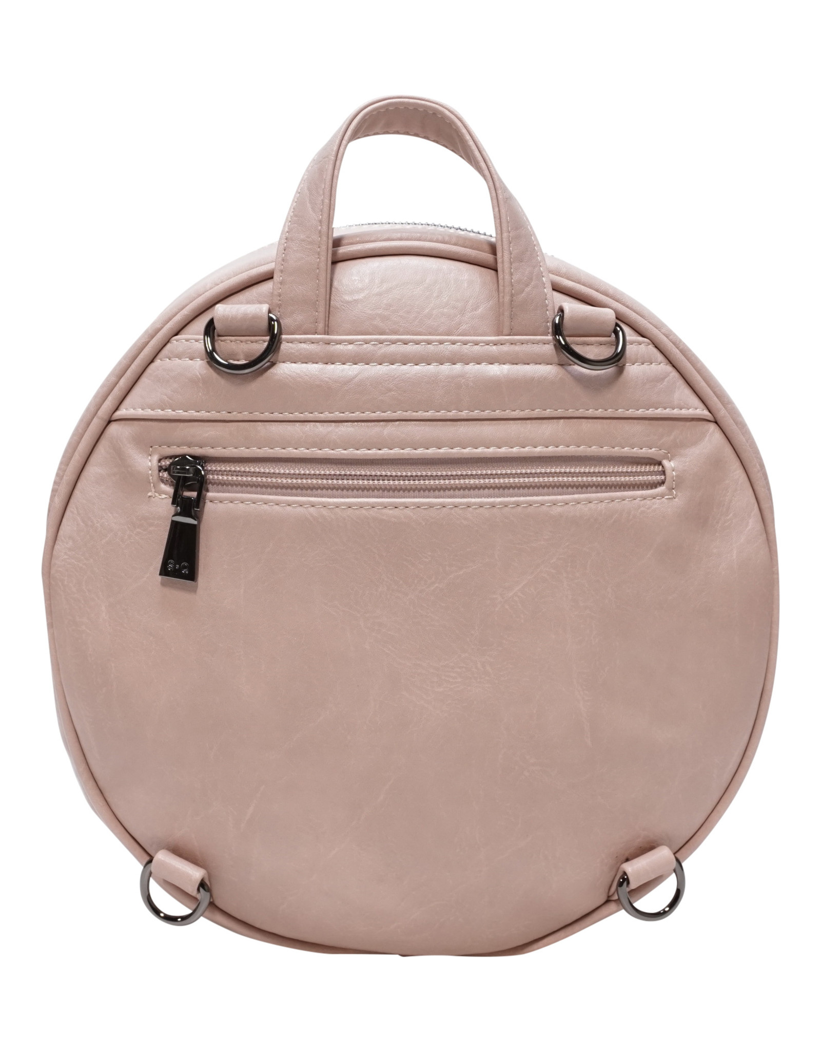 Petal Pink Jessa Round Convertible Backpack