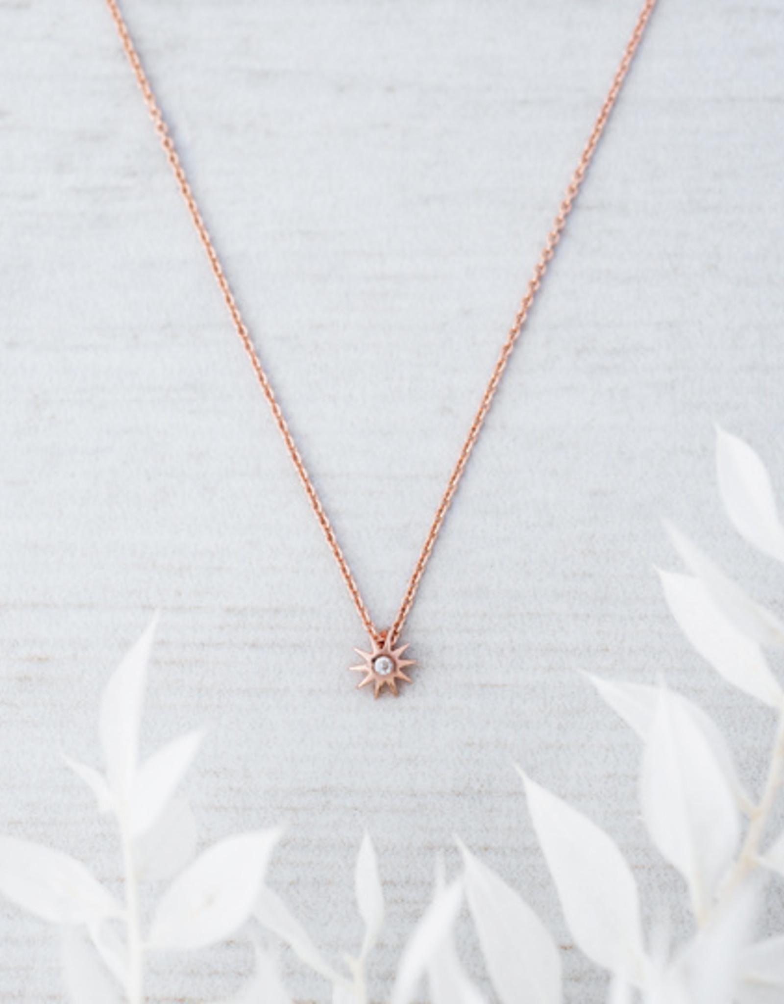 Rose Gold Starburst Necklace