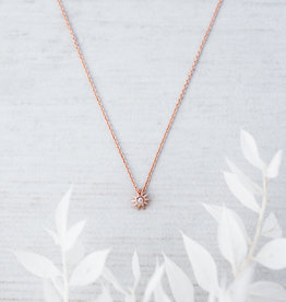 Rose Gold Starburst Necklace