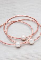 Rose Gold White Pearl Honest Bangle