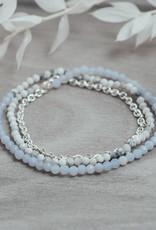 Silver Howlite Blue Lace Agate Cici Bracelet