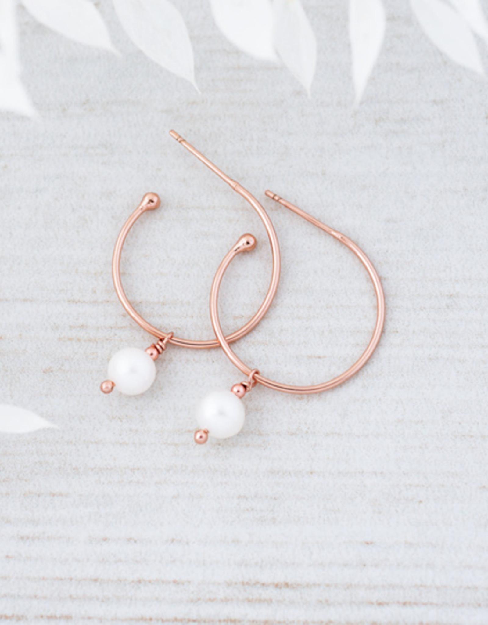 Boucles d'oreilles Passion or rose