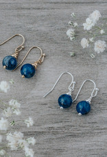 Boucles d'oreilles Mingle cyanite or
