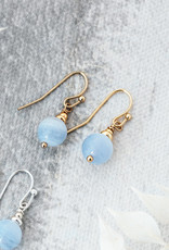 Silver Blue Lace Agate Mingle Earrings