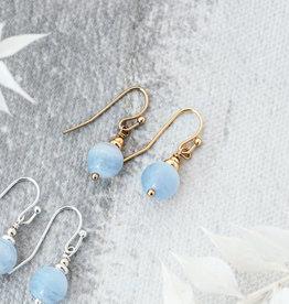 Silver Blue Lace Agate Mingle Earrings