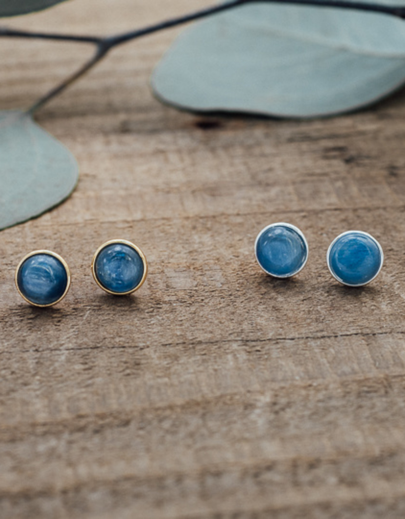 Boucles d'oreilles Anytime cyanite argent