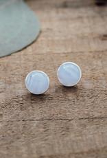 Boucles d'oreilles Anytime agate bleue argent