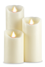 3 x 9'' Ivory Flameless Candle