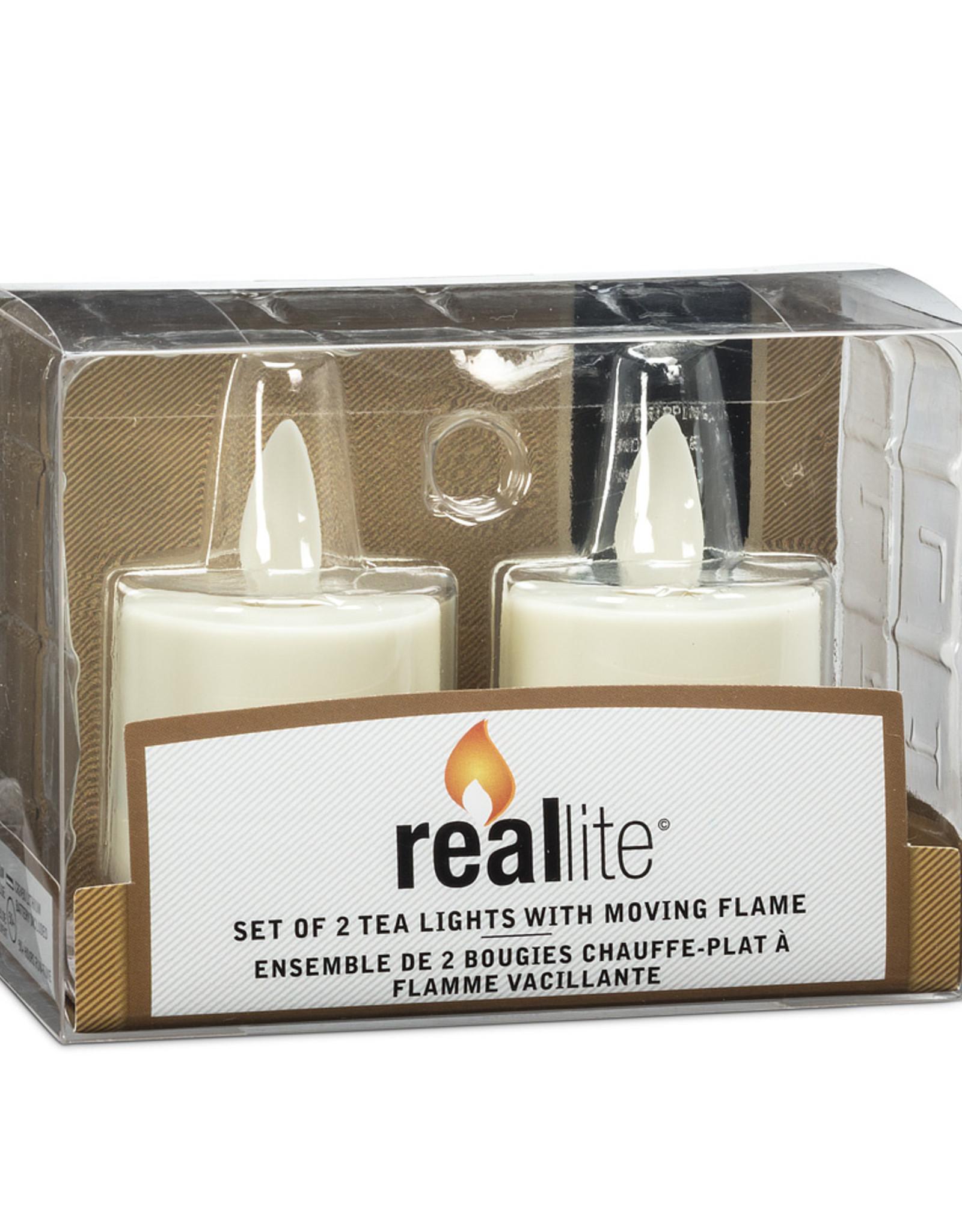 Ensemble de 2 petites bougies à flamme vacillante