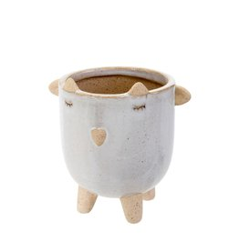 Little Lamb Pot White
