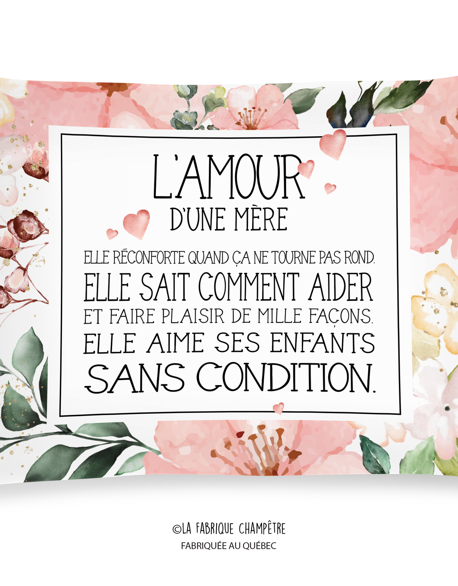Cushion L'amour d'une mère (in french only)